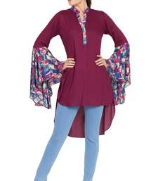 Purple plain rayon islamic tunics