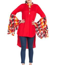 Red Plain Rayon Islamic Tunics