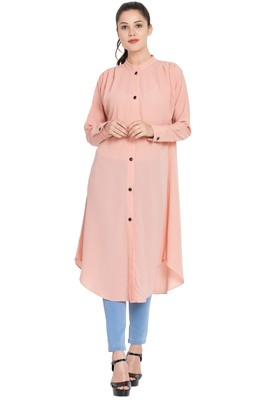 Pink Plain Nida Islamic Tunics
