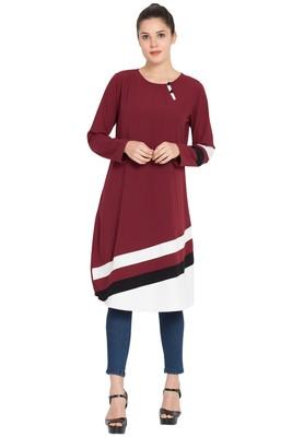 Maroon Plain Nida Islamic Tunics