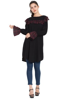 Black Plain Nida Islamic Tunics