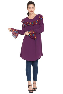 Purple Plain Nida Islamic Tunics