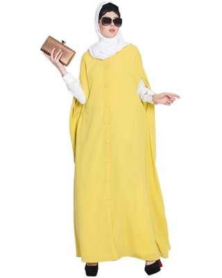 Lemon Plain Nida Abaya