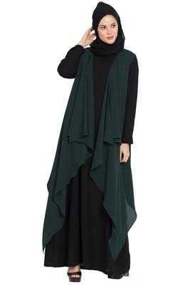 Dark Green Plain Nida Islamic Acessories