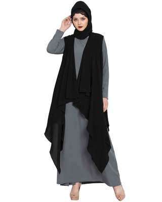 Black Free Size Shrug For Any Abaya