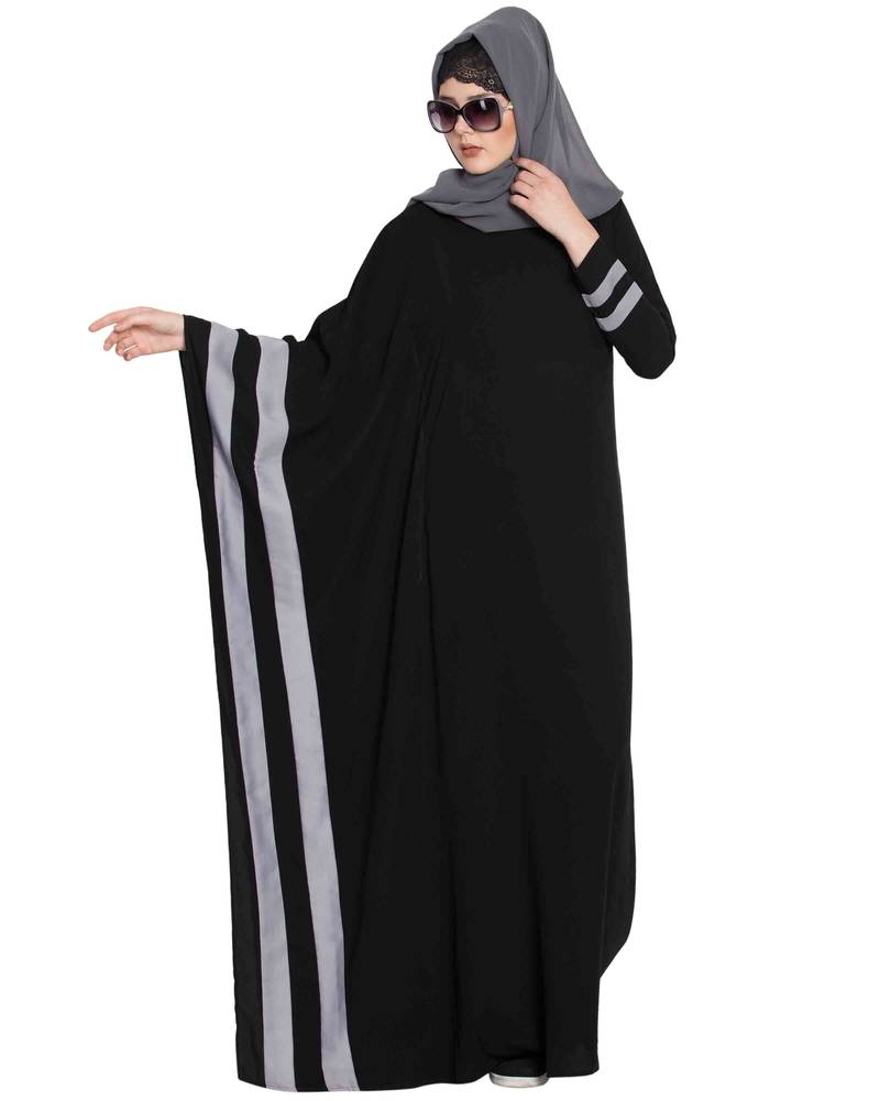 Black Plain Nida Abaya Mushkiya 2789788