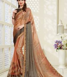 Buy Brown brasso saree with blouse brasso-saree online