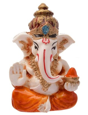 Karigaari India Handcrafted Resine Little Ganesha Showpiece for Home Decor I Vinayaka Showpiece Ganesha Idols