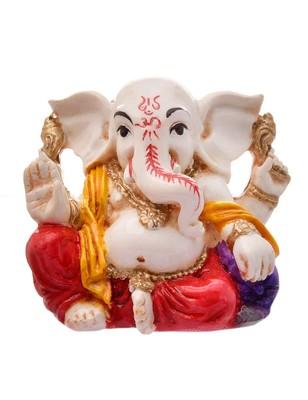 Karigaari India Handcrafted Resine Little Ganesha Idol Sculpture Vinayaka Showpiece Ganesha Idols