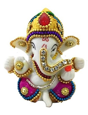 Karigaari Resine Ganesha Decor(Multicolour)