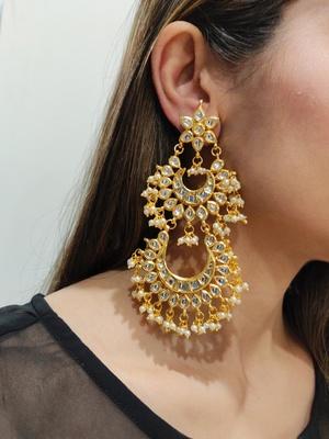 Naina Kundan Chandbali Earrings