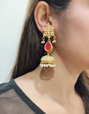 Red Kundan Earrings