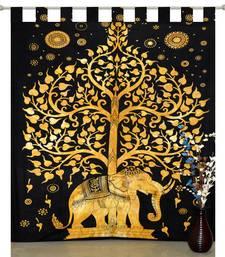 indian Elephant Tab top curtain Tree of life curtains,1 Panel Set Mandala Curtain, Twin Tapestry, Drapes & Valances