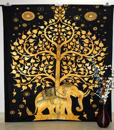 Hippie Dorm Tapestries Tree Of Life Elephant Wall Hanging Bohemian Wall Tapestry Bedding Beach Blanket (85 X 85 Inches)