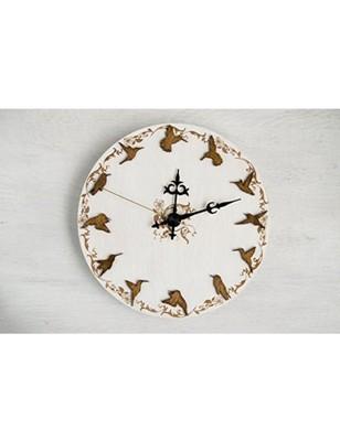 Karigaari India Wooden Round Shaped Bird Wall Clock I Best for Kids Room I Kids Gifts I Kids Room