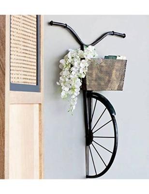 Karigaari Iron Cycle Wall Hanging (2.54 cm x 2.54 cm x 2.54 cm, Black)