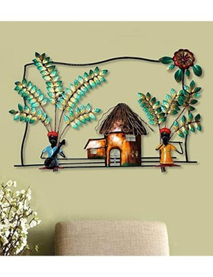 ee89fc9887 Karigaari India Metal Rajasthani Couples under a Tent Wall Hanging & Wall  Showpiece, Gifting Option House Warming Gifts - Karigaari India - 2790506