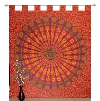 Indian Mandala Tapestry Gypsy Home Decor Window & Panel Set Bohemian Curtain Room Divider Blackout Balcony Sheer Curtain