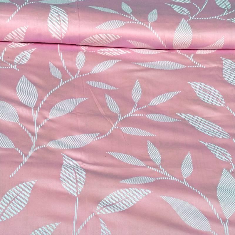Buy Just Linen 250 TC Cotton Sateen Light Pink Floral