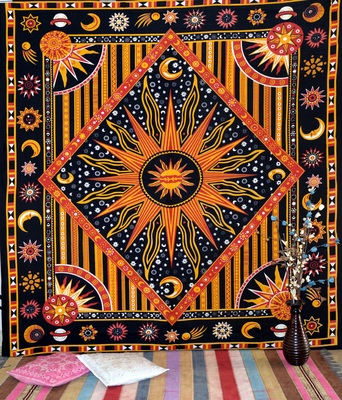 Indian Mandala Wall Queen Tapestry Throw Tapestries Hippie Wall Hanging Bed Cover Art