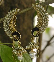 Beautiful Pearl Peacock Earrings with Jhmki style