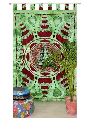 Mandala Window Tab top Curtains Drape Balcony Room Decor Curtain Boho Set Ethnic Windows & Panels Set Tab Top Tapestry