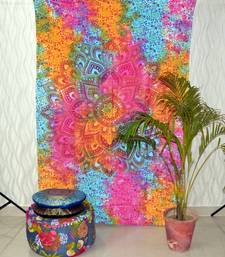 Ombre Mandala Tapestry - Multi Color Indian/Hindu Wall Hanging - 100% Cotton - Bohemian Wall D  cor Twin