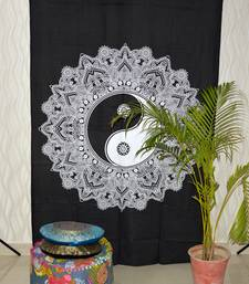 Exclusive Black & Whtie Mandala Tapestry, Bohemian Mandala Tapestries, Twin Size Mandala Wall Hanging Throw Twin