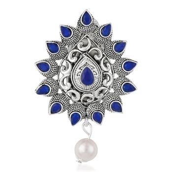 Blue brooch
