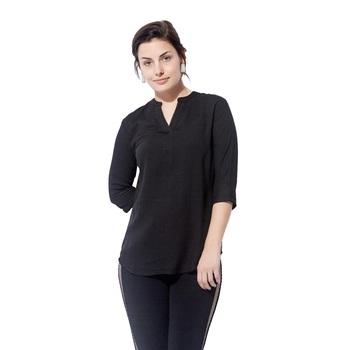 Black plain cotton long top