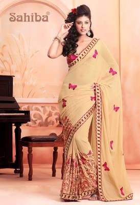 GLEE EMBROIDERED DESIGNER SAREE 7606