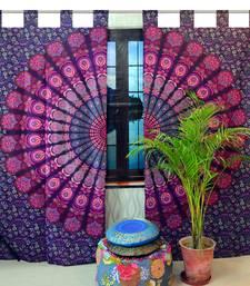 Indian Tab top Curtain Mandala Curtains, 2 Panel Set Mandala Curtain, Tapestry, Drapes & Valances, Window Curtain