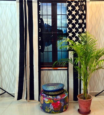 Mandala Window Tab top Curtains Drape Balcony Room Decor Curtain Boho Set Ethnic Windows & Panels Set Tab Top Curtains