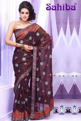 BREE EMBROIDERED DESIGNER SAREE 3007