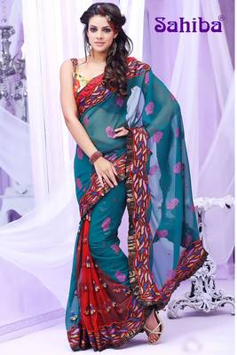 BREE EMBROIDERED DESIGNER SAREE 3008