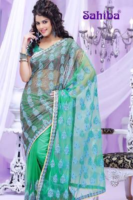 BREE EMBROIDERED DESIGNER SAREE 3012