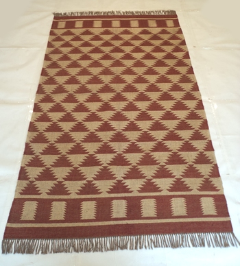 Indian Hippy Old Jute Wool Living Bedroom Rug Eckath Designer Carpet 5'x8 Feet Rug