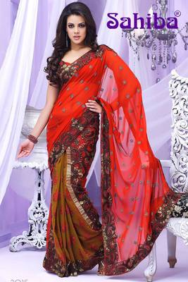 BREE EMBROIDERED DESIGNER SAREE 3015