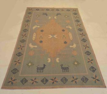 Antique Handmade Carpet Wool Cotton Kilim Rug Door Mat, Dininng Room, Kitchen Rug
