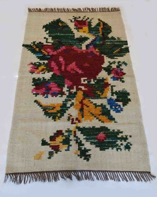 Beautiful Handmade Traditional Flower Designer Wool Silk Kilim Rug Kitchen Rug Living Rug