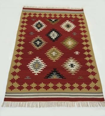 Old Traditional Handmade Persian Oriental Turkis Kilim Rug Nice Fast Multi Coloured  Carpet