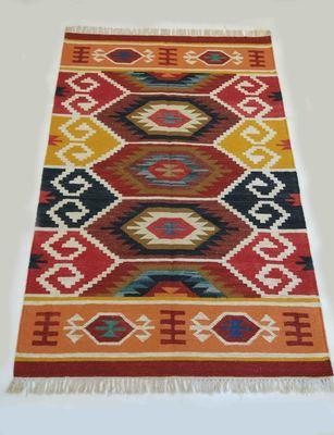 Attractive Vintage Roral Raja Multi Color Beautiful Cotton Kilim Area Rug