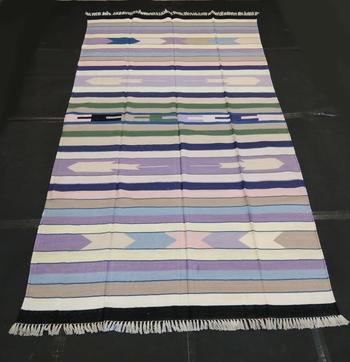 Handmade Silk Cotton Tribal Kilim Rug Home Decorative Rug Multi Coloured Carpet