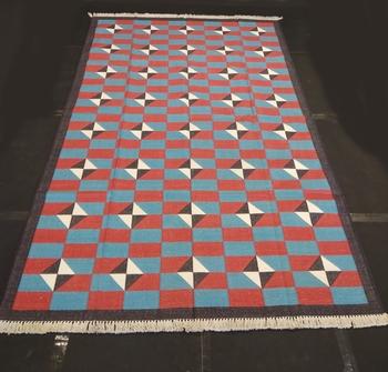 Hand woven Multi Color Home Decorative Rug Carpet Cotton Flower Kilim Area Rug