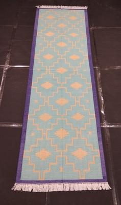Traditional Hippy Runner Mat Door Mat, Porch Mat Modern Cotton Kilim Runner Rug