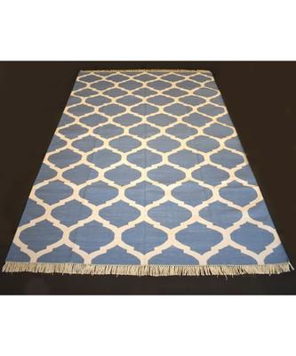 Beautiful Handwoven Flat Weave Size 5X8 Feet Rug Home Decorative Rug Cotton Kilim Rug