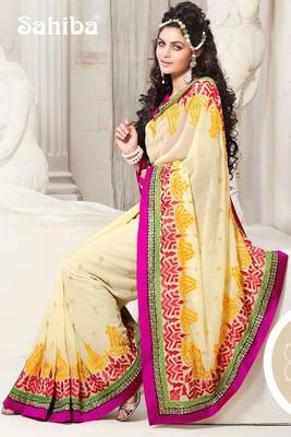 KALI EMBROIDERED DESIGNER SAREE 1015