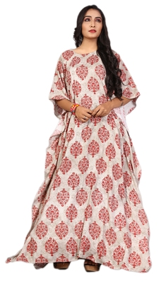 Multicolor printed rayon islamic-kaftans