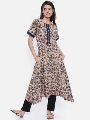 off-white printed cotton islamic-kaftans