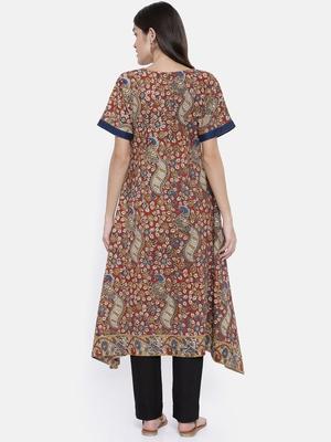 maroon printed cotton islamic-kaftans